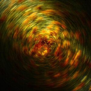 swirl of orange and green